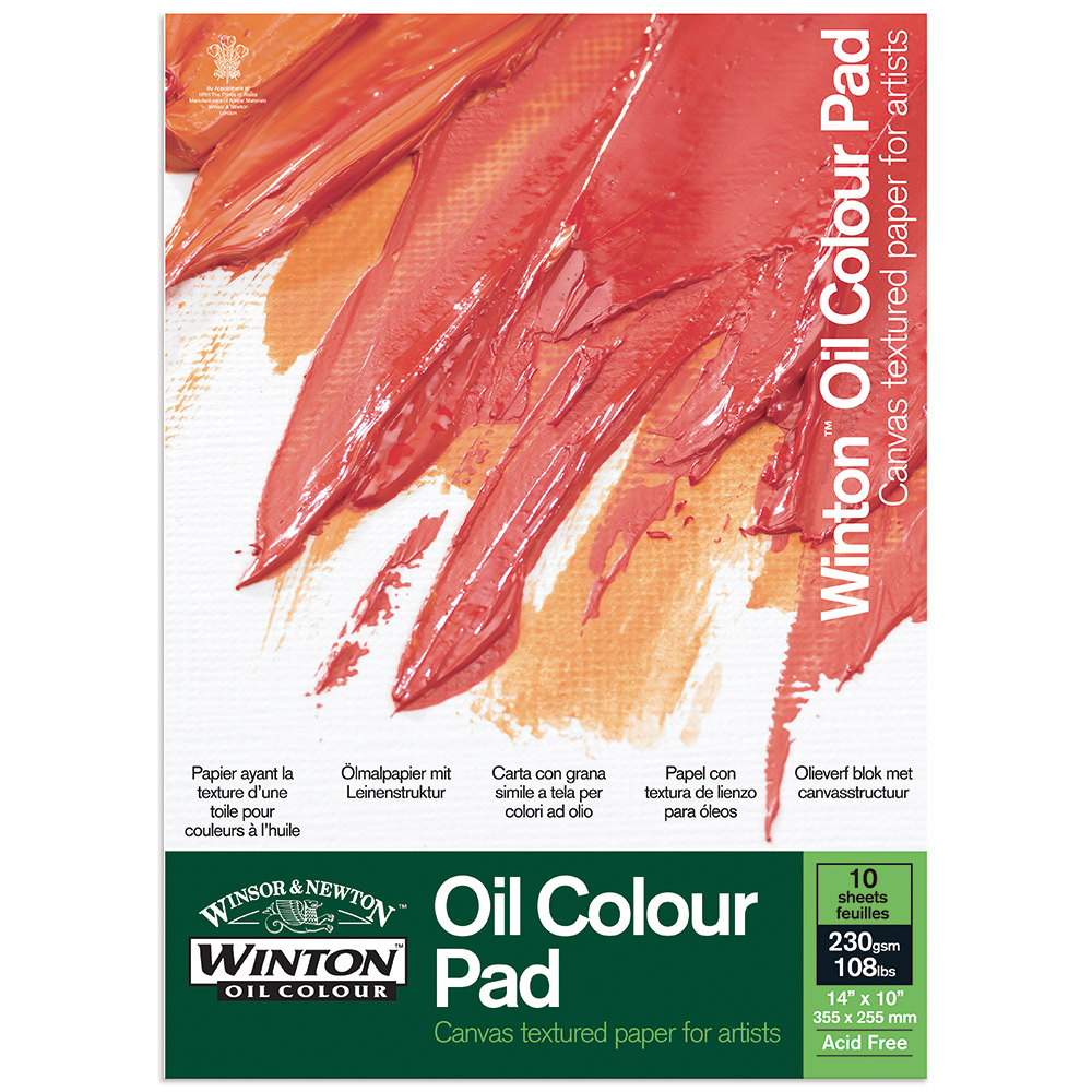 Winton oil painting paper pads ken bromley art supplies for Oil or acrylic