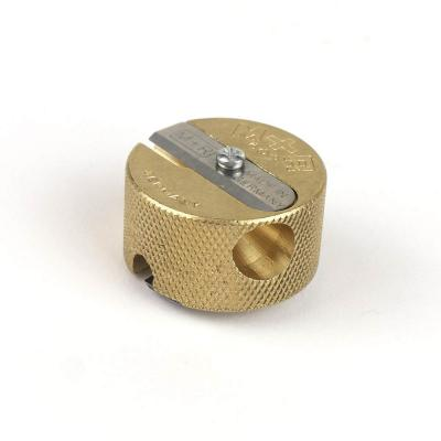 M&R Professional Solid Brass 2 Hole Pencil Sharpener