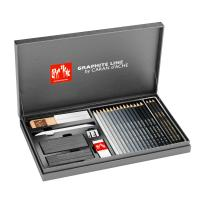 Graphite Line Satin Box Gift Set by Caran d