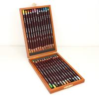 Derwent 24 Coloursoft Wooden Box Set