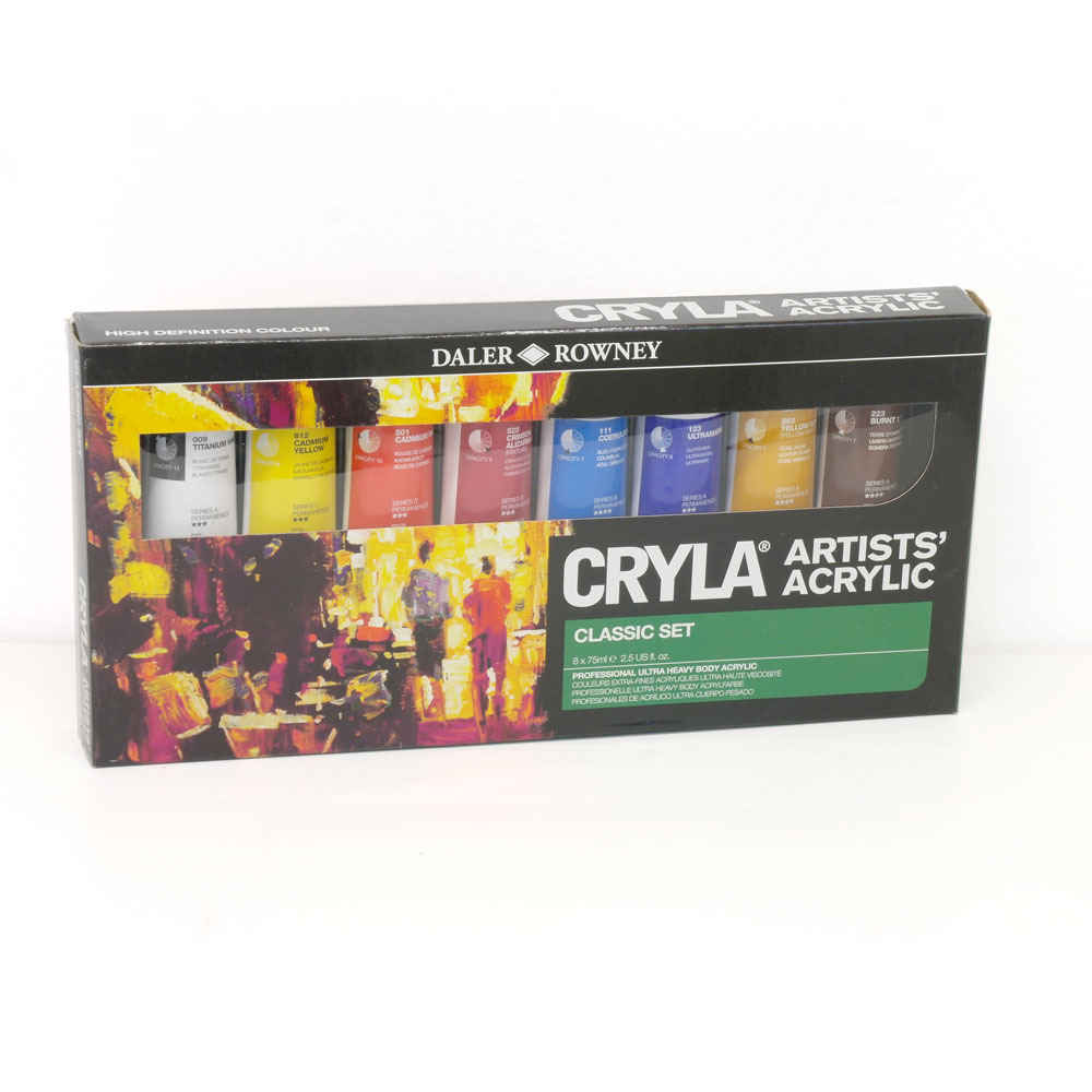DALER ROWNEY CRYLA ARTISTS COLOURS ACRYLIC INTRODUCTION ...