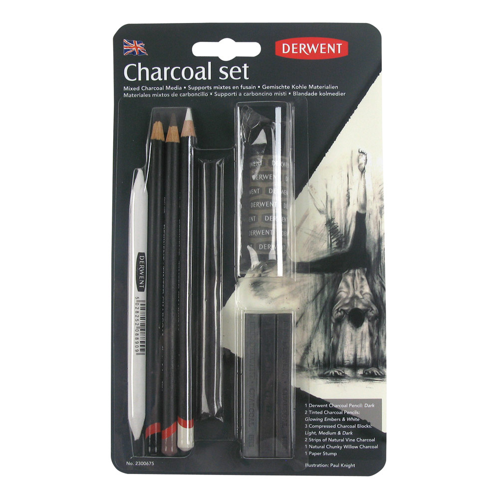 how to use tinted charcoal pencils