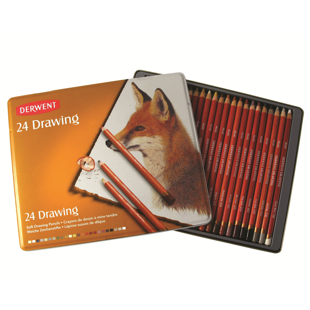 Derwent Drawing Pencils Tin Ken Bromley Art Supplies