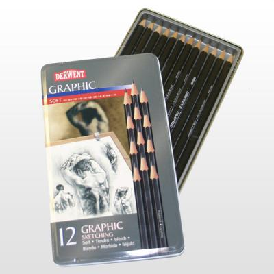Derwent Graphic Pencils Tins of 12