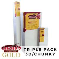 Loxley Gold 3D Triple Pack Canvas