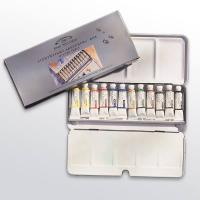 W&N AWC Lightweight Metal Box 12 x 5ml Tubes