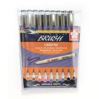 Sakura Pigma Brush Pen Wallet (9 colours)