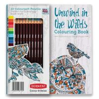Unwind in the Wilds Colouring Book and 10 Coloursoft Pencils