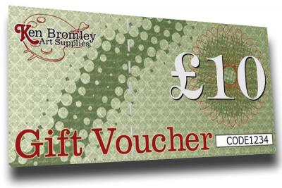 Ken Bromley Art Supplies Gift Vouchers