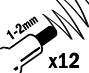 1-2mm Small Round Nibs
