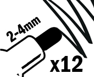 2-4mm Large Round Nibs